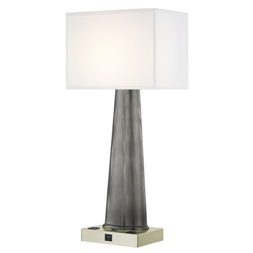 OLYMPUS LEDGE LAMP Single Switch with Satin Nickel Base