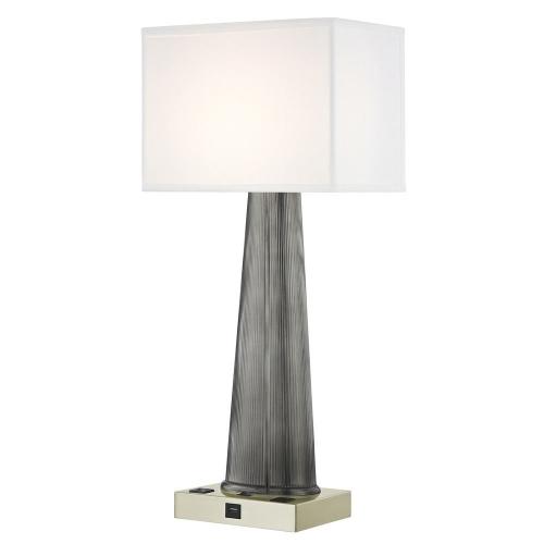 OLYMPUS LEDGE LAMP Single Switch with Satin Nickel Base