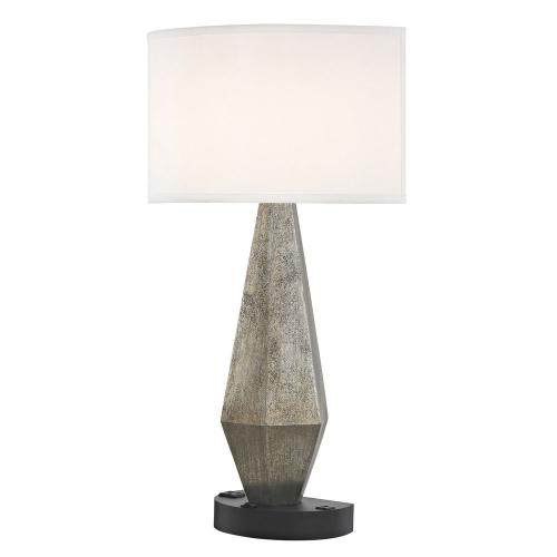 GEO LEDGE LAMP Single Switch with Black Base