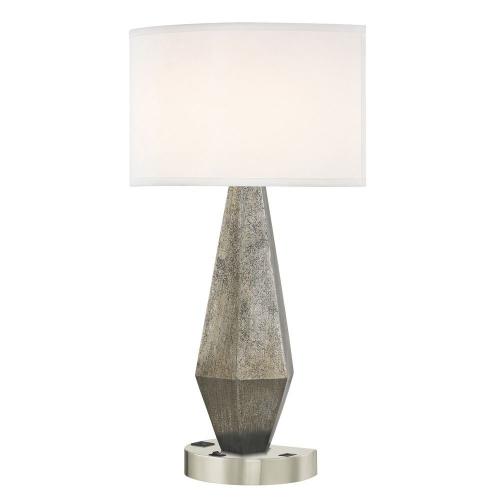 GEO LEDGE LAMP Single Switch with Satin Nickel Base