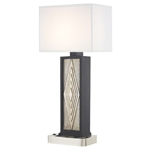 DIAMOND CUT LEDGE LAMP Dual Switching with Satin Nickel Base