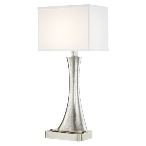 RIO LEDGE LAMP Dual Switching with Satin Nickel Base and Rectangle Shade