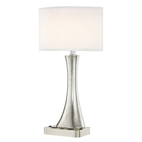 RIO LEDGE LAMP Dual Switching with Satin Nickel Base and Round Shade