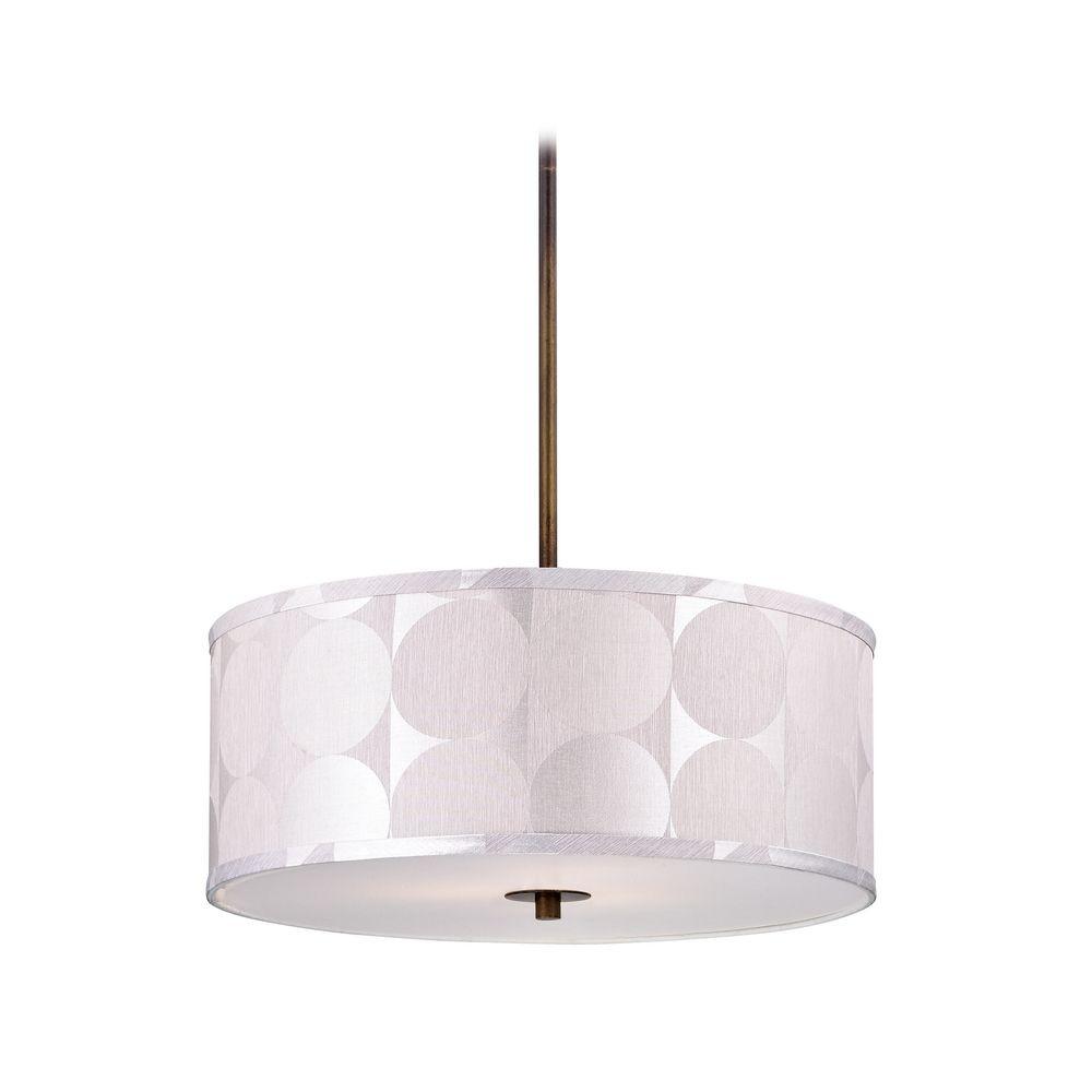 drum pendant lighting shades. milo bronze drum pendant light with shade lighting shades